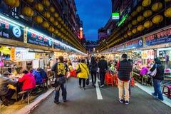 Este é mercado da noite de Keelung Fotografia de Stock