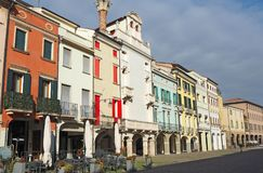 Este, Padova, Italy. The main square and its Venetian style buildings royalty free stock photos