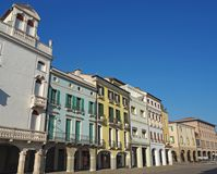 Este, Padova, Italy. The main square and its Venetian style buildings royalty free stock image