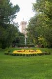 Este (Padua, Italië) - Kasteel en park stock fotografie