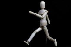 Este robô está movendo-se como um ser humano Fotos de Stock Royalty Free