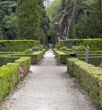 Este16th--centuryträdgård för villa D ', Tivoli, Italien Lokal för Unesco-världsarv royaltyfria bilder