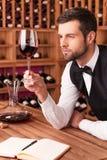 Este vinho é perfeito Fotos de Stock Royalty Free