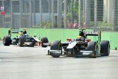 Esteban Gutierrez участвуя в гонке в Сингапур GP2 2012 Стоковое Изображение RF
