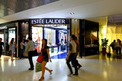 Estee Lauder Store at Orchard Ion. Estee Lauder  store in the basement of orchard ion Royalty Free Stock Photography