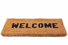 Esteira bem-vinda cortada Imagens de Stock