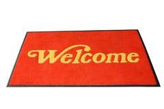 Esteira bem-vinda vermelha Imagem de Stock Royalty Free
