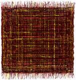 Esteira colorida listrada do grunge quadrado com franja ilustração do vetor