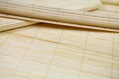 Esteira de bambu Fotografia de Stock