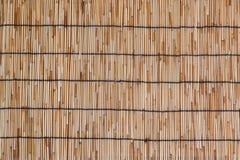 Esteira de bambu como o fundo Imagens de Stock