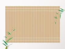 Esteira de bambu do rolamento do sushi ilustração do vetor do fundo Foto de Stock
