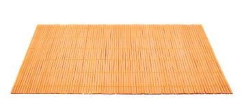 Esteira de bambu do serviço da palha isolada Foto de Stock Royalty Free
