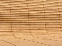 Esteira de bambu levantada 2 fotos de stock