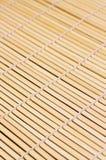 Esteira de bambu para o sushi Fotografia de Stock