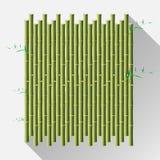 Esteira de bambu verde, wal, diy, isolado no fundo branco Vetor Imagens de Stock Royalty Free