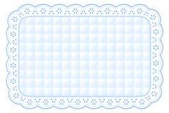esteira de lugar acolchoada branca do laço do ilhó de +EPS Foto de Stock Royalty Free