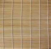 Esteira de lugar de bambu para o sushi Imagens de Stock