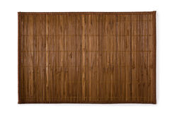 Esteira de lugar de bambu para o sushi foto de stock