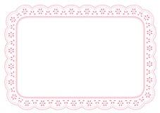esteira de lugar do laço de +EPS PinkEyelet Fotografia de Stock