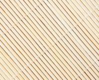 Esteira do bambu do fundo Imagens de Stock Royalty Free