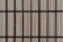 Esteira do sushi, feita das varas de bambu de tamanhos diferentes Imagem de Stock Royalty Free