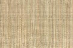 Esteira natural bege da grama de vime seca como a textura, fundo imagens de stock