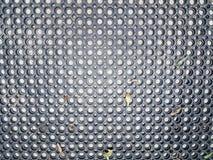 Esteira plástica ou de borracha preta com círculos foto de stock royalty free