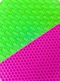 Esteira plástica verde e cor-de-rosa Imagens de Stock Royalty Free