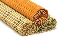 Esteiras de bambu Fotografia de Stock