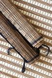 Esteiras de bambu Fotografia de Stock Royalty Free
