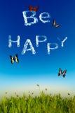 Esteja feliz Fotografia de Stock