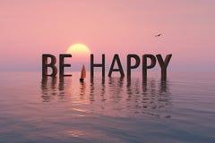 Esteja feliz Fotos de Stock