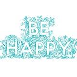 Esteja feliz Imagem de Stock Royalty Free