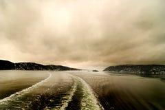 Estela abstracta marina y Lansdcape fotografía de archivo libre de regalías