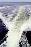 Estela del agua Fotografía de archivo libre de regalías