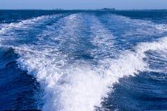 Estela del barco Fotografía de archivo