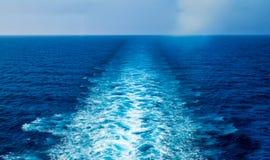 Estela del barco de cruceros Imagen de archivo
