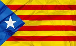 Estelada Blava flag of Catalonia Royalty Free Stock Photo