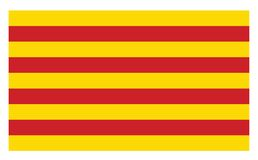 Catalonia flag. Estelada Blava, national flag of Catalonia Stock Images