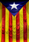 The Estelada, the Catalan  flag Royalty Free Stock Photo