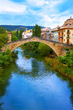 Estella bridge in Way of Saint James at Navarra Stock Photography
