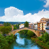 Estella bridge in Way of Saint James at Navarra Stock Image