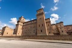 Estense Castle - Ferrara Emilia Romagna - Italy. Estense Castle or Castle of San Michele 1385 is a moated medieval castle in the center of Ferrara, Emilia royalty free stock photo