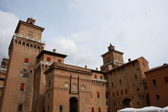 Estense Castle in Ferrara Stock Images
