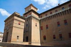 Estense Castle. Ferrara. Emilia-Romagna. Italy. Stock Image