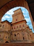 Estense Medieval Castle Ferrara Italy. Estense Medieval Castle in Ferrara Italy Royalty Free Stock Image