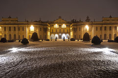 The Estense Palace, Varese. Night lighting at the Estense Palace, Varese - Italy stock photo