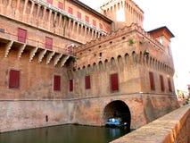 Estense Schloss in Ferrara, Italien Lizenzfreie Stockfotos