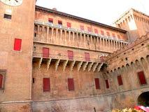 Estense Schloss in Ferrara, Italien Stockbild