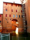 Estense Schloss in Ferrara, Italien Stockfotos